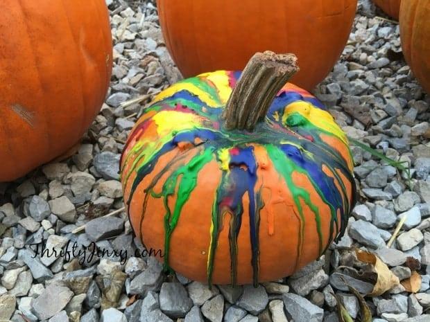 DIY Crayon Drip Pumpkin Craft