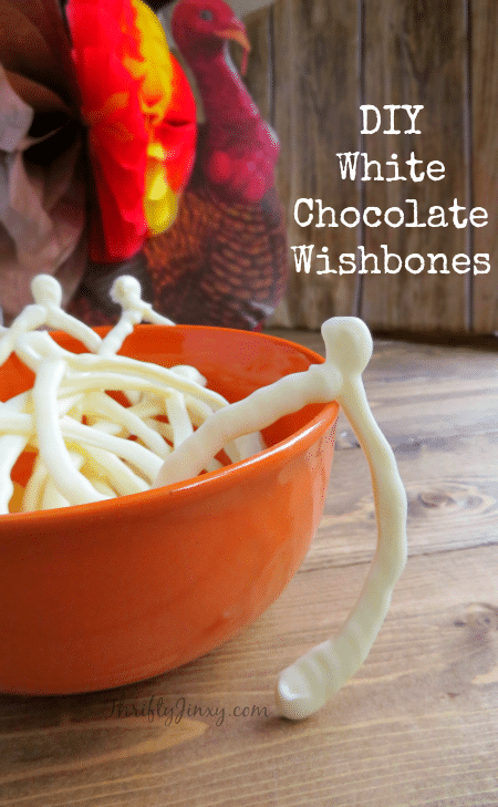 Start a new Thanksgiving tradition with these DIY White Chocolate Wishbones. With more than one wishbone, everyone can join in on the fun!