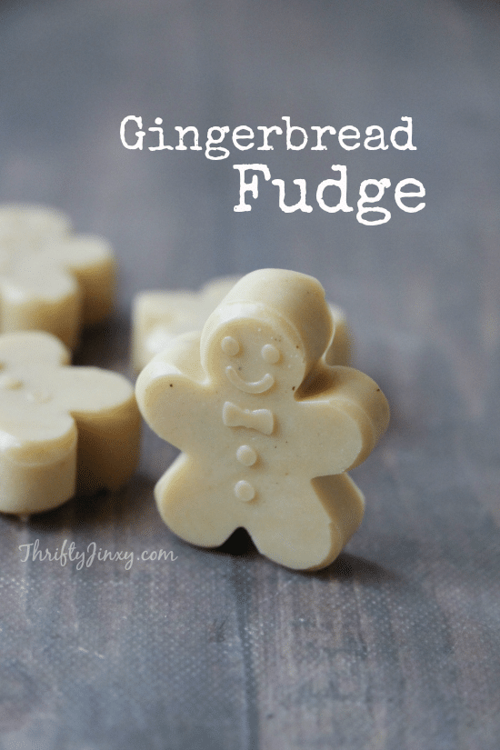 This gingerbread fudge recipe combines two Christmas classics into one delicious treat perfect for git giving or holiday cookie trays! #ChristmasRecipes #Christmas #fudge #gingerbread #ChristmasCandy