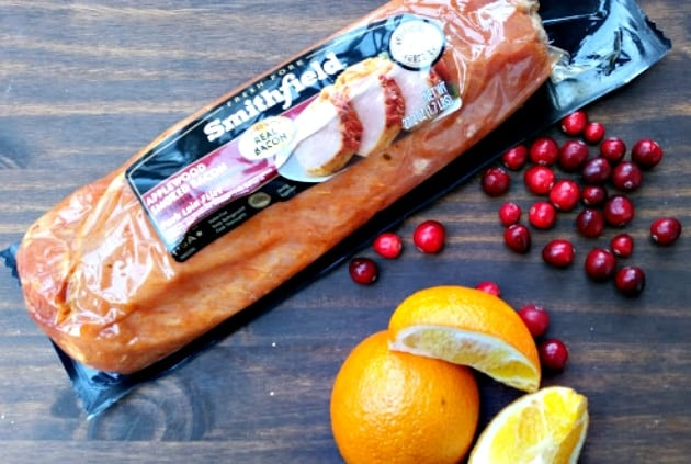 Slow Cooker Pork Loin With Cranberry Walnut Relish product photo