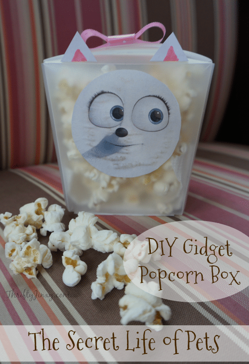 The Secret Life of Pets DIY Gidget Popcorn Box for Family Movie Night