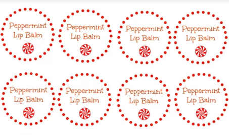 graphic about Lip Printable referred to as Do it yourself Selfmade Peppermint Lip Balm with Printable Labels