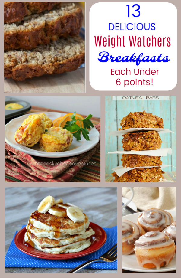 This Weight Watchers Breakfast Recipes Roundup is filled with delicious pancakes, muffins, scones, hash and more - all under 6 points per serving!
