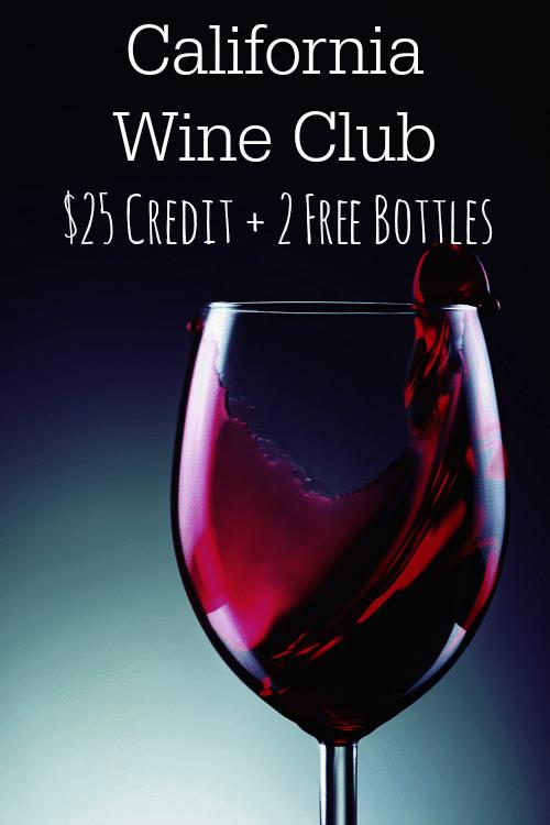 California Wine Club: $25 Credit + 2 Free Bottles