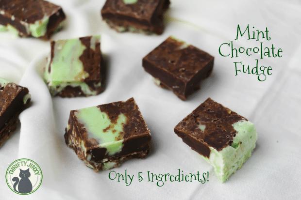 Easy 5 Ingredient Mint Chocolate Fudge Recipe
