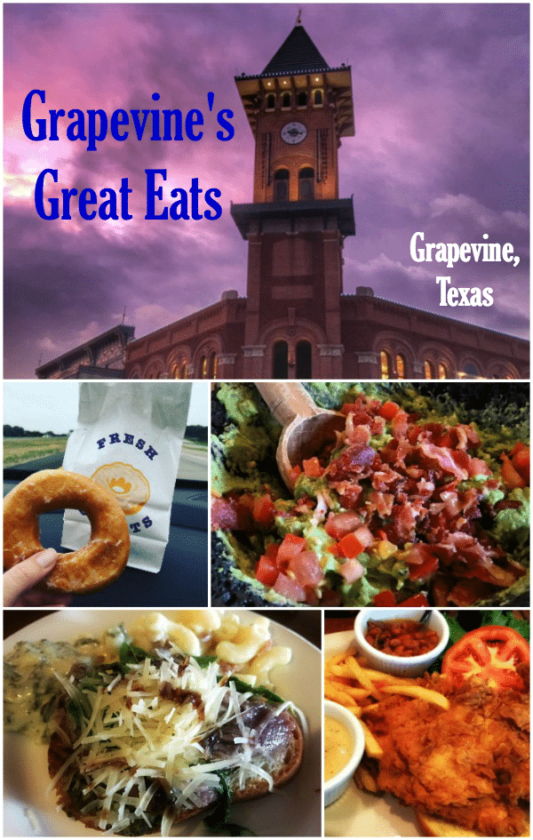 Grapevine's Great Eats - North Texas Food You'll Want to Try! There is GREAT food in Grapevine from guacamole made tableside at Mi Dia from Scratch, to chili at Tolbert's to the best doughnuts EVER at Kountry Donuts.