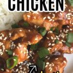 Honey Sesame Instant Pot Chicken