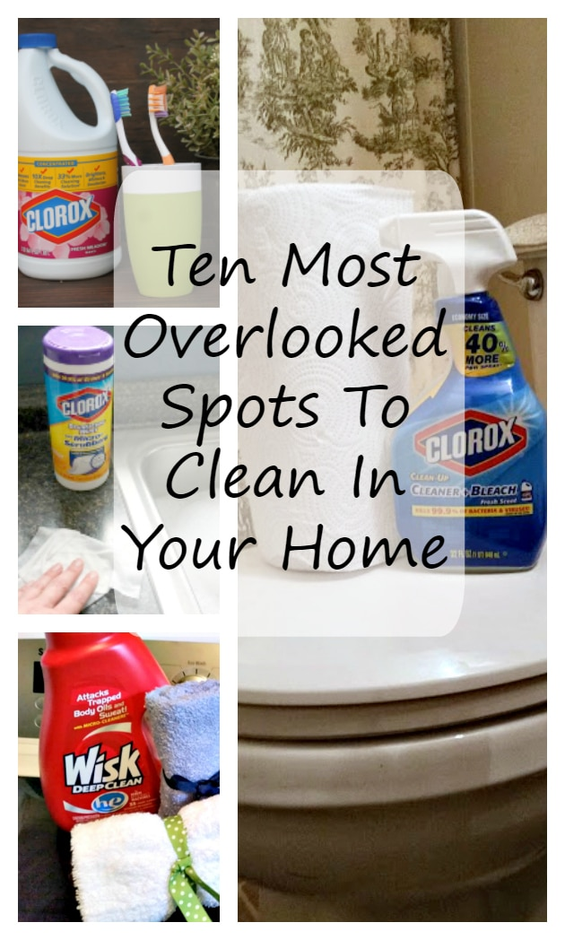 The best defense against germs is a good cleaning. The question is where are they hiding so you can clean them? They are in these top missed spots you need to clean now!