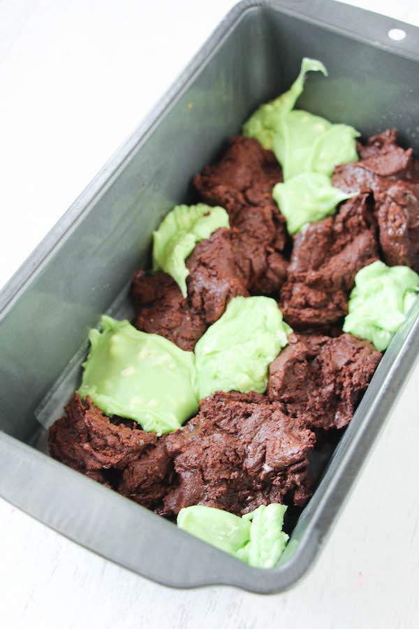Preparing Chocolate mint fudge