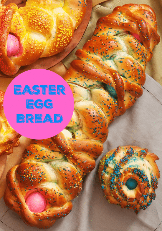 Colored Easter Egg Bread