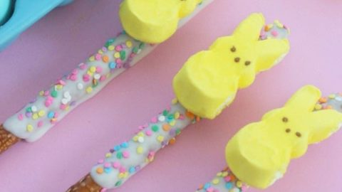 DIY PEEPS Bunny Easter Pretzel Treats