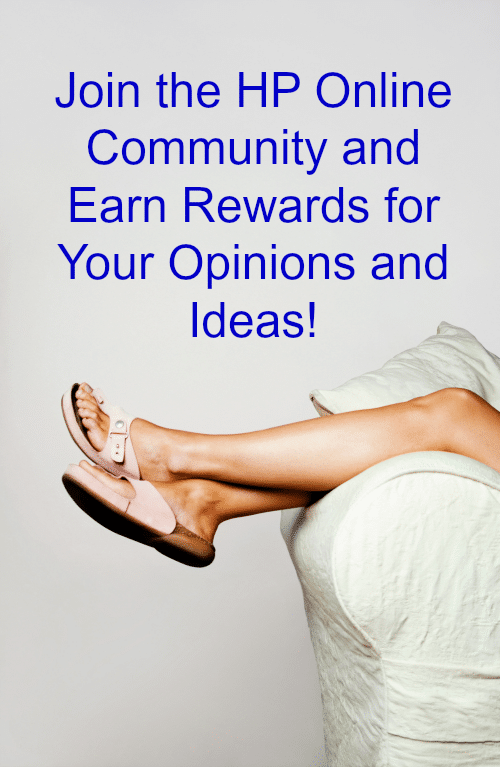 Join the HP Online Community and earn monthly Amazon eGift Cards for sharing your opinions and ideas! All from the comfort of your own home! AD