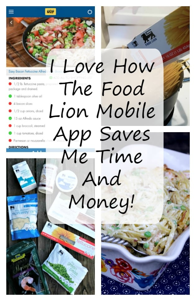 I Love How The Food Lion Mobile App Saves Me Time And Money! I can load coupons, recipes and create a shopping list, all from my smartphone! Yay!
