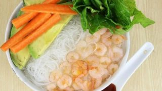 Quick and Easy Shrimp Spring Bowl