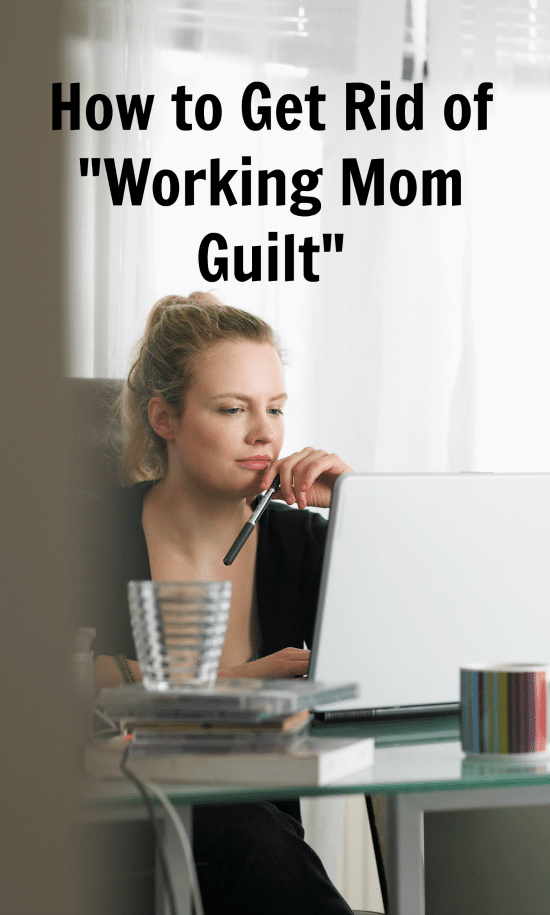 How to Get Rid of Working Mom Guilt: Get help from the Working Moms Mean Business podcast series brought to you by BBVA Compass and personal finance writer Emma Johnson.