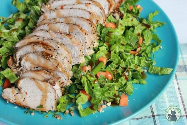 Easy Pork Tenderloin Recipe with Asian Slaw