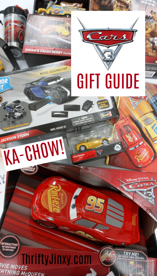 The 2017 Cars 3 Gift Guide is filled with the latest and greatest Disney Pixar Cars 3 toys, books and school supplies little fans will love!