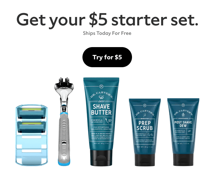Dollar Shave Club $5 Offer