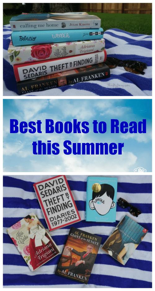Best Books to Read this Summer - Trigiani, Sedaris, Franken, Trigiani, Palacio, Kibler