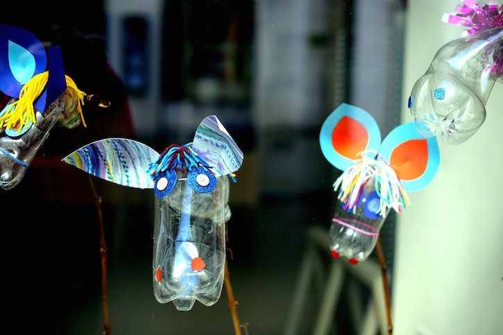 Recycled Mouse Bottles