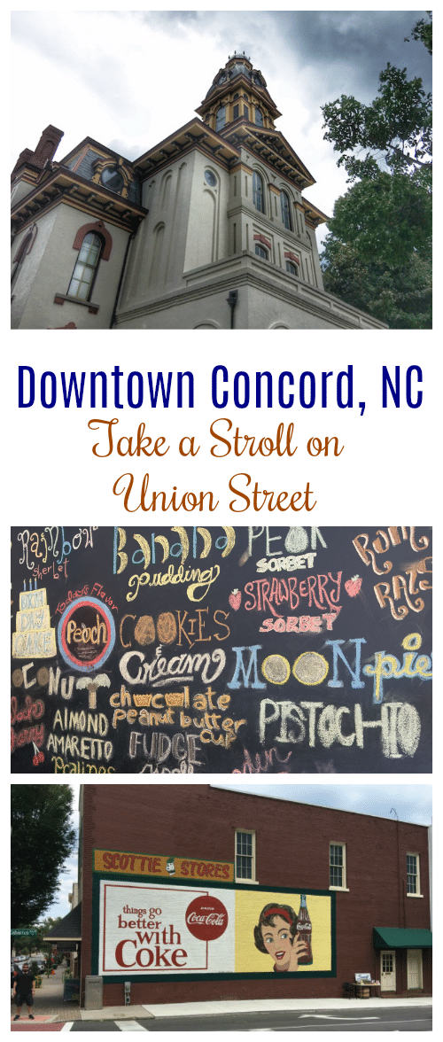 Only have one travel day in Downtown Concord, North Carolina? Don't miss these stops as you take a stroll down Union Street!