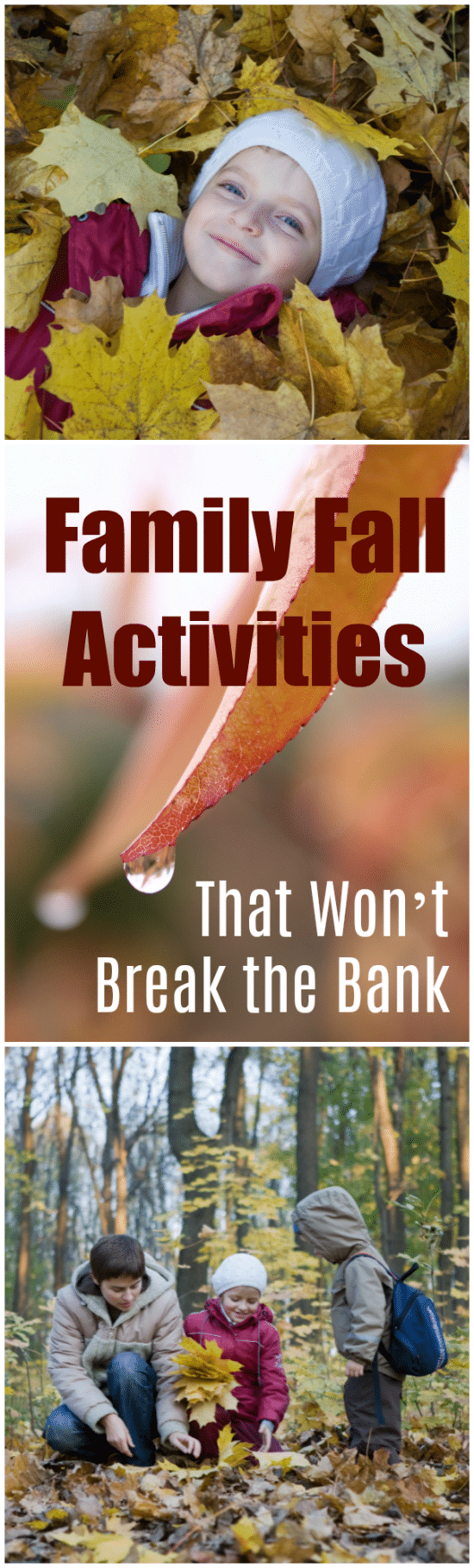Round up the kids and enjoy autumn with these ideas for Family Fall Activities that Won't Break the Bank!