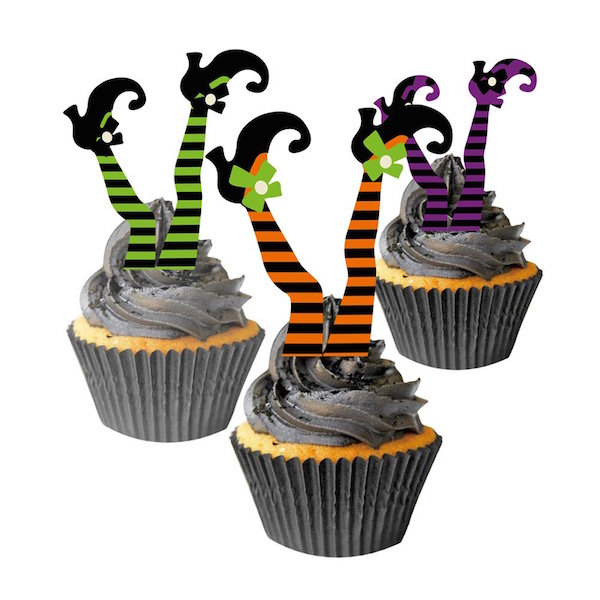 Witch Boot Cupcake Toppers