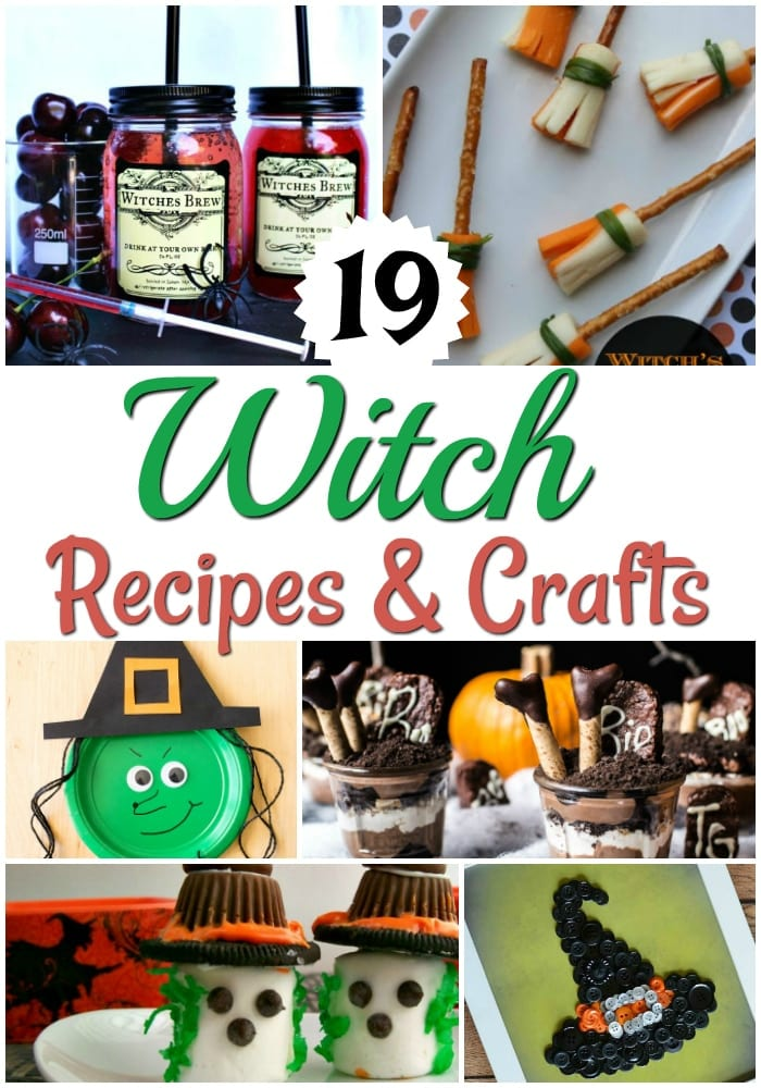 These fun witch recipes and crafts will add some extra cute and spooky fun to your Halloween party!