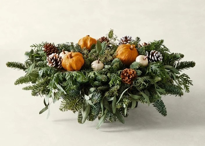 Greens and Gourds Thanksgiving Centerpiece
