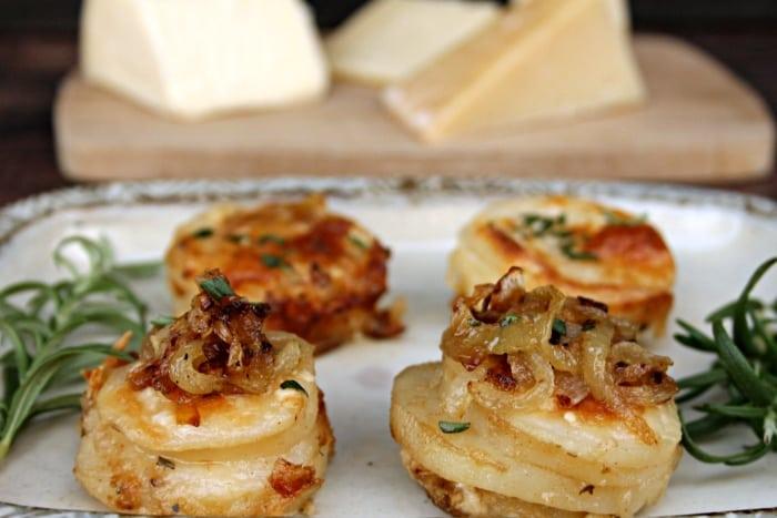 Cheesy Potato And Herb Gratin Stacks ingredients 12