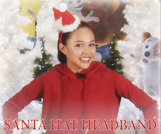 Learn how to make a DIY Santa Hat Headband with Breanna Yde who stars as li Mariah in Mariah Carey's All I Want for Christmas is You!
