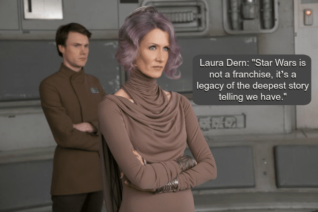 Laura Dern as Vice Admiral Amilyn Holdo in The Last Jedi