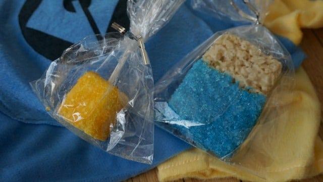 Minion Rice Krispy Treats