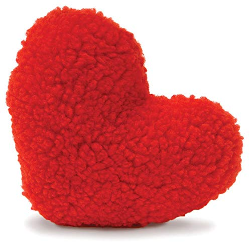 Fleece Red Heart Dog Toy