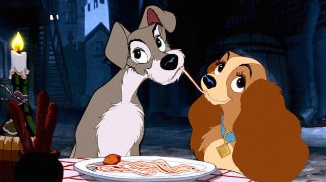 Lady and the Tramp spaghetti scene