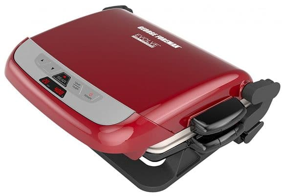 George Foreman Evolve 3-in-1 Grill with Removable Plates in Red