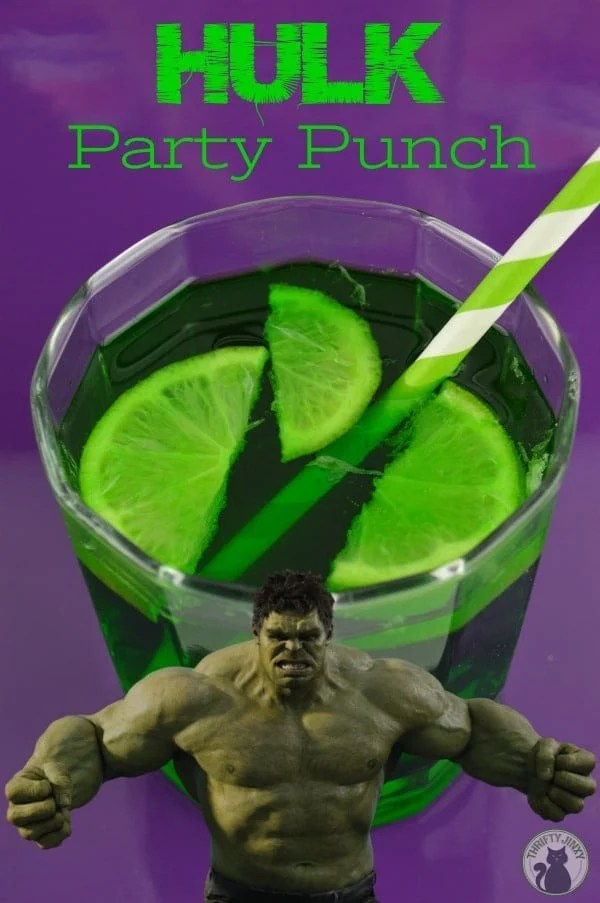 Add some green, delicious fun to your Marvel Super Hero party with this green Hulk Punch recipe!