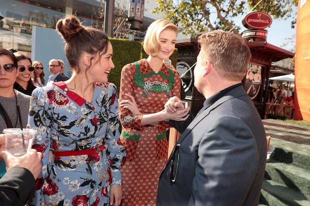 Rose Byrne, Elizabeth Debicki and James Corden at the World Premiere of Columbia Pictures' PETER RABBIT in Los Angeles, CA