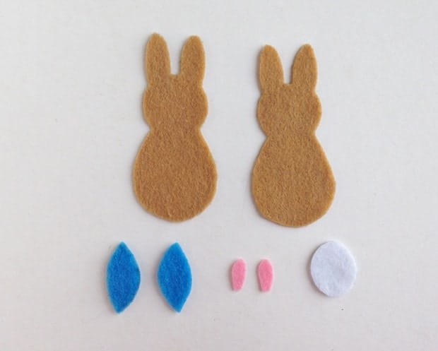 Peter Rabbit Felt Craft Step 1