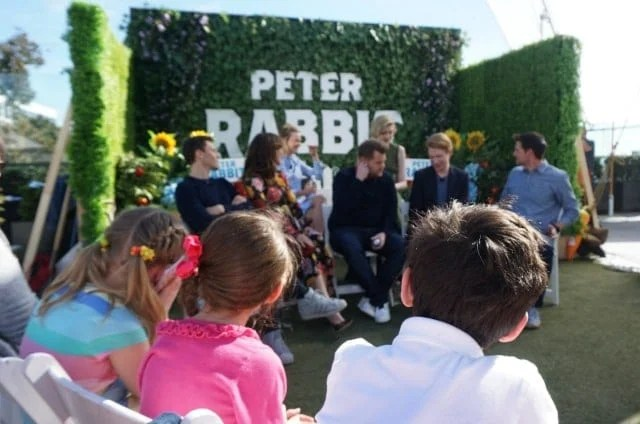 Peter Rabbit cast press conference