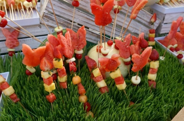 Peter Rabbit Fruit Skewers