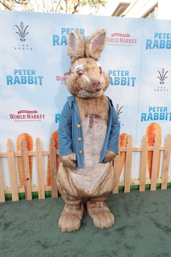 Peter Rabbit at the World Premiere in Los Angeles, CA