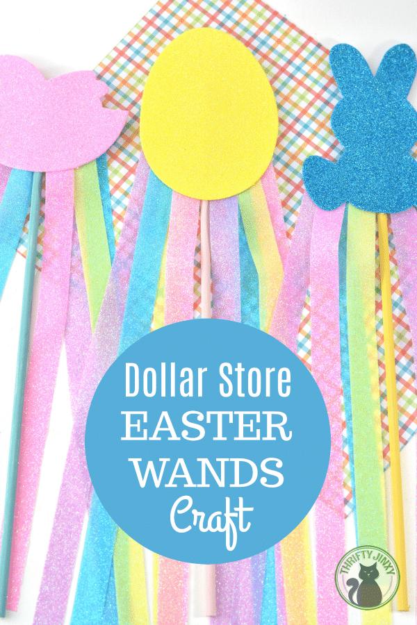 DIY Dollar Store Easter Wand Craft