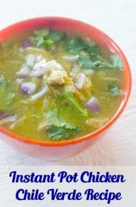 Instant Pot Chicken Chile Verde Recipe pin