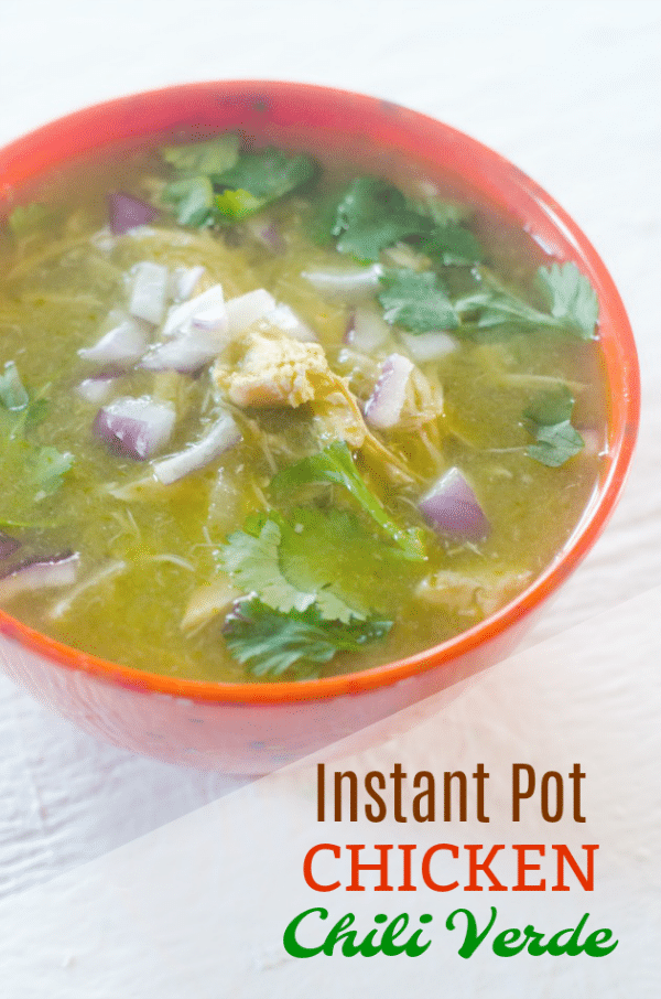 Instant Pot White Chicken Chili Verde Recipe