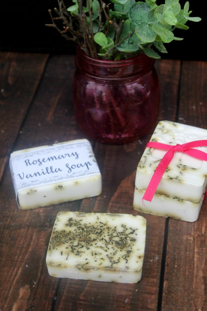 Easy DIY Rosemary Vanilla Essential Oil Soap Recipe