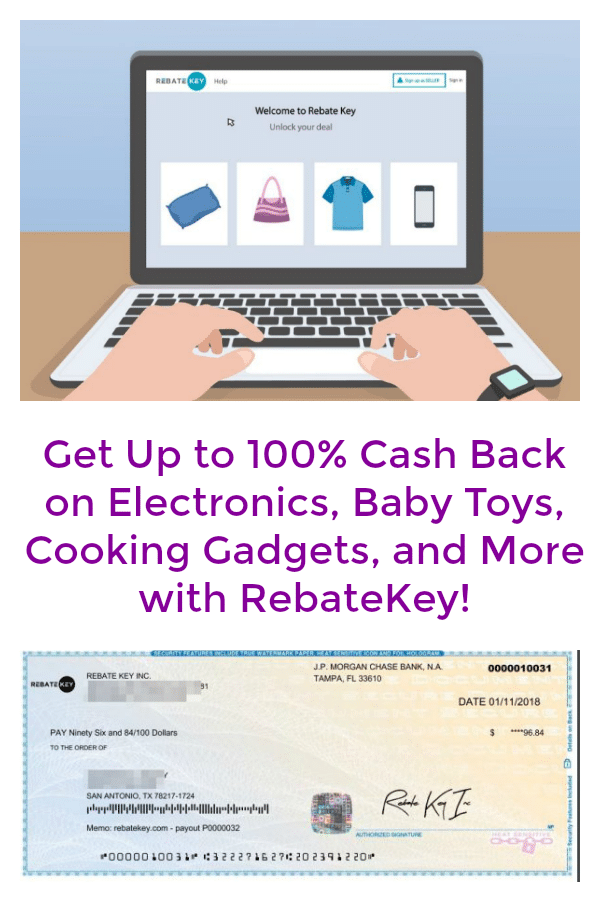 Get Up to 100% Cash Back on Electronics, Baby Toys, Cooking Gadgets, and More with RebateKey!