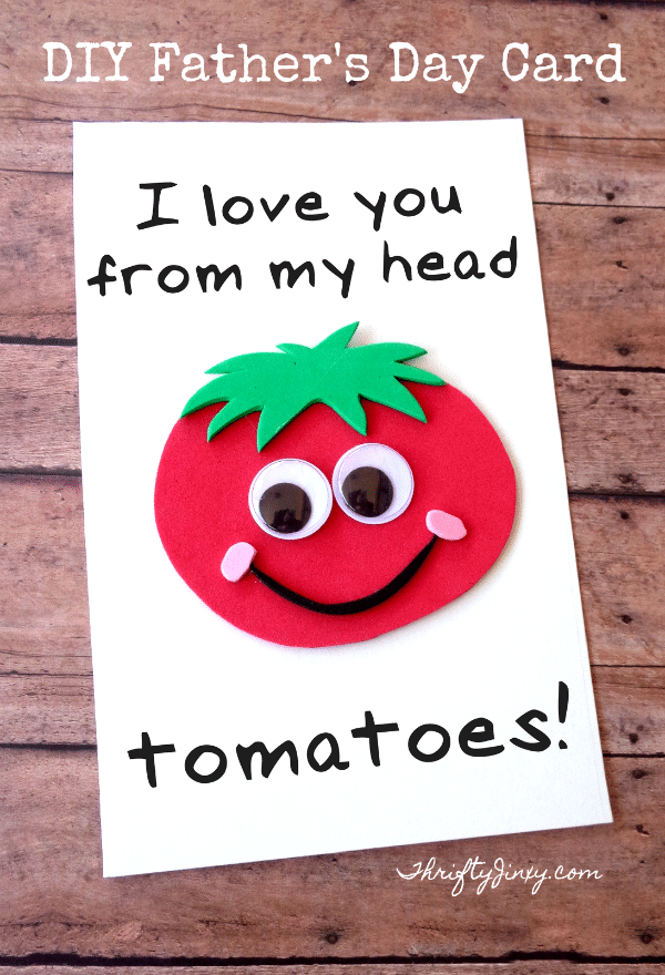 diy father u0026 39 s day tomato card with printable template