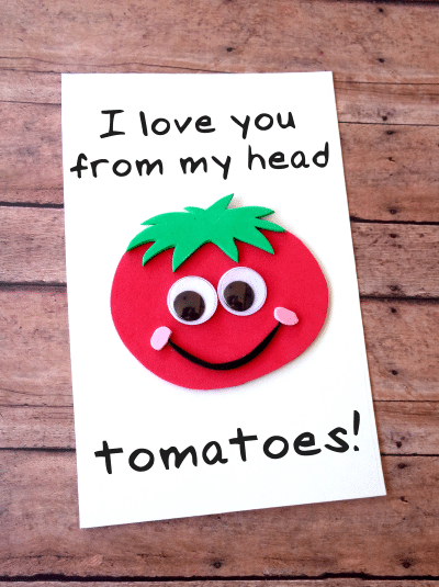 DIY Father's Day Tomato Card