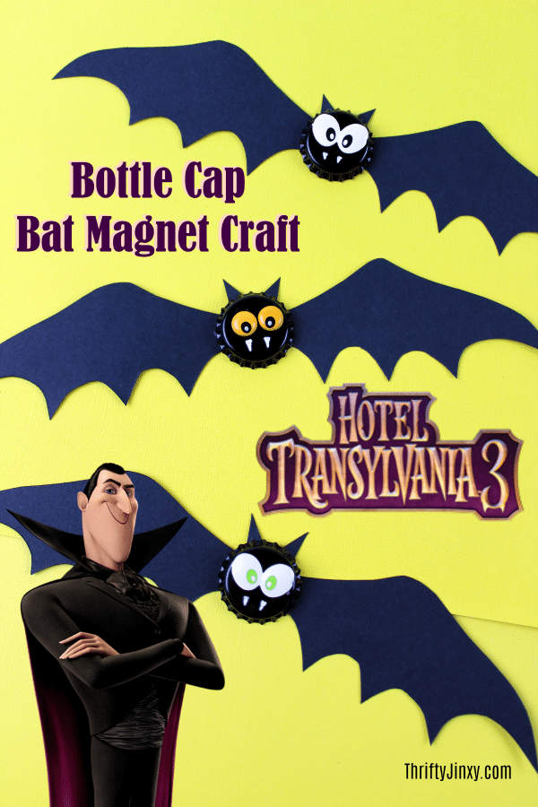 Hotel Transylvania 3 Bat Bottle Cap Magnet Craft